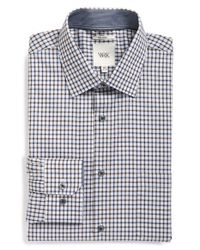 W.r.k. | Gray Extra Trim Fit Check Dress Shirt for Men | Lyst