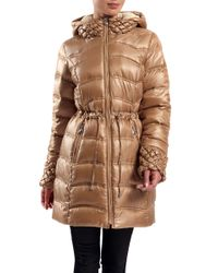 Dawn Levy - Natural Hooded Jacket With Drawstring Waist - Lyst