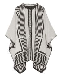 M.i.h Jeans | White Oversized Reversible Wool-blend Wrap | Lyst