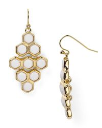 Ralph Lauren - Metallic Lauren Hexagonal Chandelier Earrings - Lyst