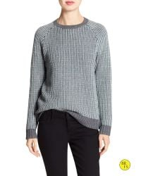 Banana Republic | Gray Factory Stitch-knit Raglan Sweater | Lyst