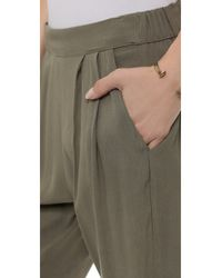 Enza Costa | Green Crepe Easy Pants - Army | Lyst