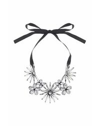 TOPSHOP | Black Mega Flower Collar | Lyst