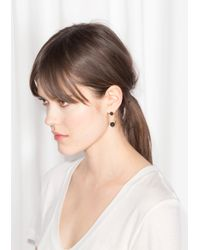 & Other Stories - Black Ball Drop Back Earrings - Lyst