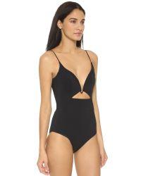 Zimmermann - Black Marisol Bonded Peak Wire Swimsuit - Noir - Lyst