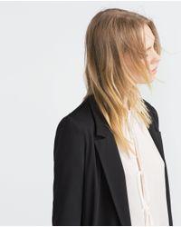 Zara | Black Loose Fit Blazer | Lyst