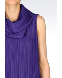 Emporio Armani - Purple Sleeveless Top - Lyst