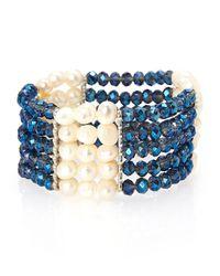 Gardenia | Blue & Champagne Bracelet | Lyst