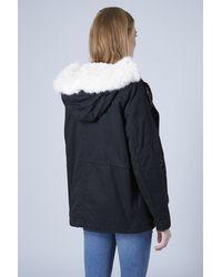 Topshop Maternity Short Padded Parka Jacket in Blue   Lyst