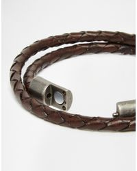 Jack & Jones | Brown Leather Wrap Bracelet for Men | Lyst