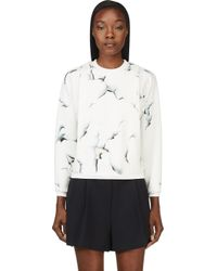 3.1 Phillip Lim - White and Blue Folded Off The Wall Sweatshirt - Lyst