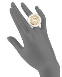 Gurhan - Metallic Moon Beam Diamond, Sterling Silver & 24k Yellow Gold Ring - Lyst
