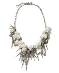 Banana Republic | Metallic Pearl Spike Necklace | Lyst