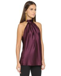 Ramy Brook | Purple Paige Sleeveless Blouse - Cranberry | Lyst