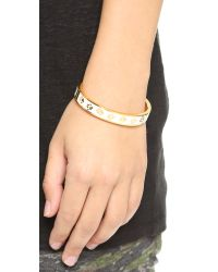 kate spade new york - Ahead Of The Pack Hinged Bangle - White - Lyst