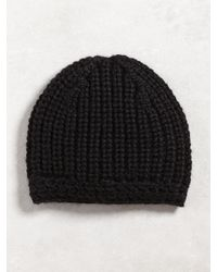 John Varvatos | Black Chunky Hand Knit Hat for Men | Lyst
