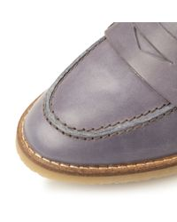 Dune - Gray Greeta Cleated Sole Penny Loafer - Lyst