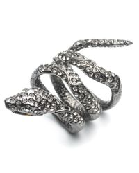 Alexis Bittar | Metallic Wrapping Serpent Cocktail Ring | Lyst