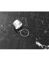 Vrai & Oro | Metallic Thick & Thin Ring Set | Lyst