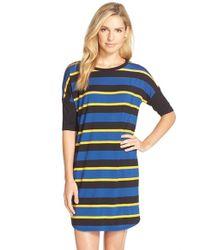 DKNY | Black Stripe Sleep Shirt | Lyst