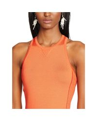 Ralph Lauren Black Label - Orange Stretch Cotton Scoopneck Tank - Lyst