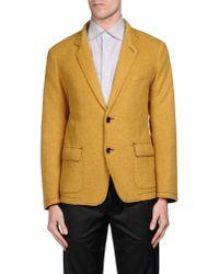 Armani Jeans - Yellow Blazer for Men - Lyst