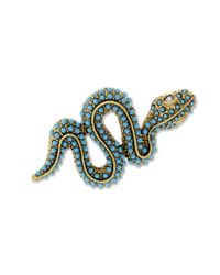 Kenneth Jay Lane | Blue Turquoise Snake Brooch | Lyst