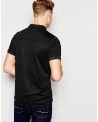 Native Youth | Black Double Faced Dot Polo Shirt for Men | Lyst
