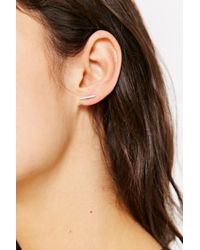 Adina Reyter - Metallic Pave Diamond Bar Post Earring - Lyst