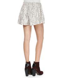 Rag & Bone - Pink Holten Printed Silk Twill Shorts - Lyst