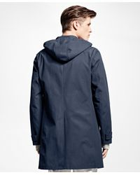 Brooks Brothers | Blue Covert Twill Mac Coat for Men | Lyst