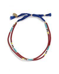 Shashi | Blue Slide Bracelet | Lyst