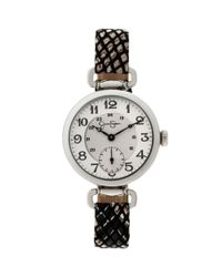 Jessica Simpson   Multicolor Womens Black Braided Animal Pattern Leather Strap Watch 36mm Js014b   Lyst