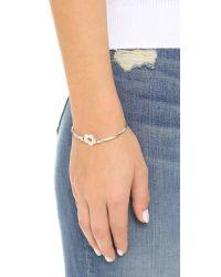 Marc By Marc Jacobs | Metallic Logo Daisy Hinge Bracelet - Argento | Lyst