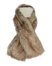 Helen Moore | Brown Tippet Faux Fur Scarf | Lyst