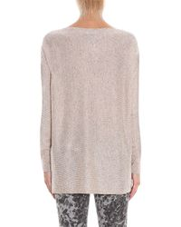 Vince - Natural Boat-neck Sweater - Lyst