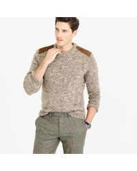 J.Crew | Brown Wool-alpaca Shoulder-patch Sweater for Men | Lyst