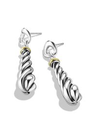 David Yurman | Metallic Metro Drop Earrings With Gold | Lyst