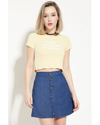 Forever 21 | Multicolor Mexico Graphic Crop Top | Lyst
