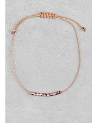 & Other Stories | Metallic Cotton Cord Bracelet | Lyst