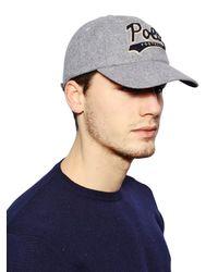 Polo Ralph Lauren - Gray Wool Blend Baseball Hat - Lyst