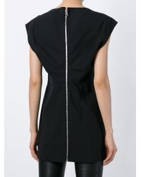 Rick Owens | Black Sleeveless Back Zip Top | Lyst