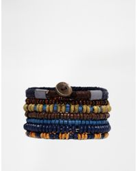 ASOS | Brown Leather Bracelet Pack with Beads for Men | Lyst