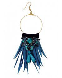 Matthew Williamson | Blue Azure Feather Jewel Earrings | Lyst