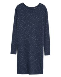Mango | Blue Polka-dot Jersey Dress | Lyst