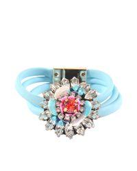 Shourouk | Blue Flower Bracelet | Lyst