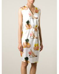 Acne Studios - White Printed Silk Dress - Lyst