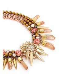 Assad Mounser | Metallic 'hercules' Mineral Crystal Spike Collar Necklace | Lyst