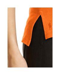 Polo Ralph Lauren | Orange Cotton Jersey V-neck Tee | Lyst