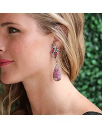 Wendy Yue | Purple Rubellite Drop Bird Earrings | Lyst